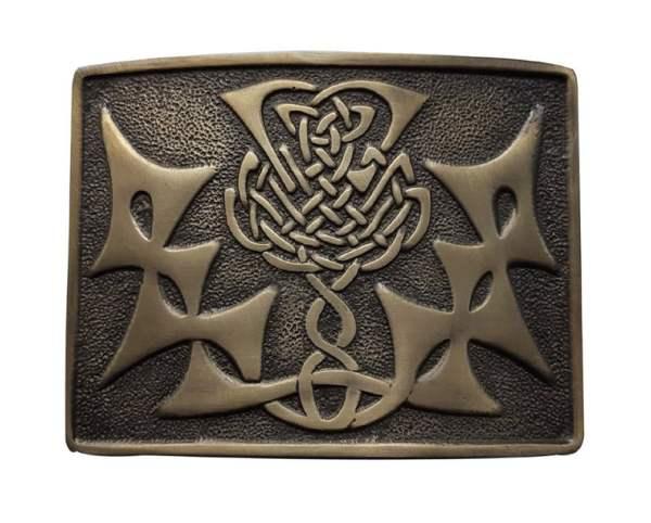 Men's Kilt Belt Buckle Antique Finish - Scottish Highland Celtic Buckles - Claddagh, Stag, Rampant Lion, Serpent, Saltire