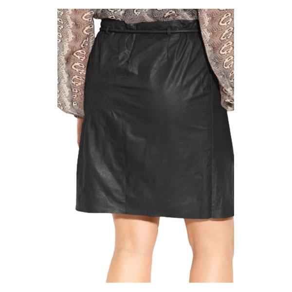 Robust LambSkin Tie Waist Leather Skirt