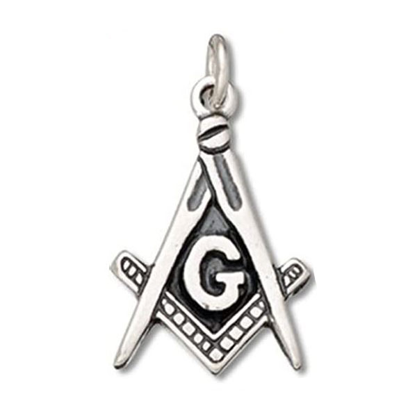 Square & Compass Masonic Sliver Necklace