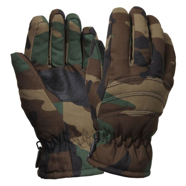 Woodland Camouflage Thermal Insulated Hunting Gloves