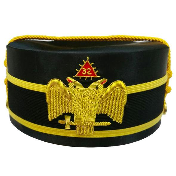 32nd Degree Scottish Rite Wings DOWN Double-Eagle Cap Bullion Hand Embroidery