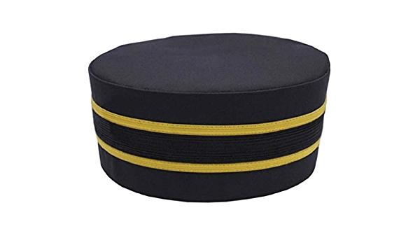 Masonic Black Cap with Gold Braid