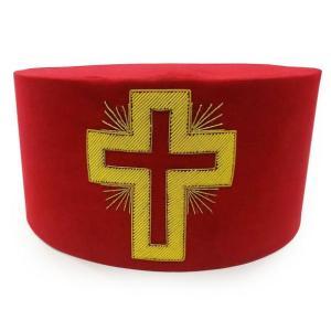 Masonic Knight Templar Past Commander Passion Cross Cap Hat Crown