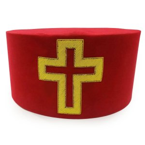 Masonic Knight Templar Sir Knight Passion Cross Cap Hat Crown