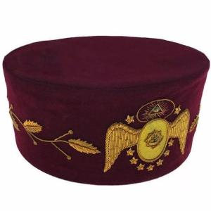 95th Degree Scottish Rite Hand Embroidered Masonic Cap