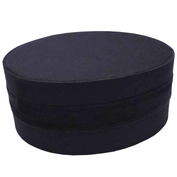 Masonic Black Cap with Black Braid