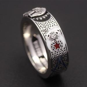 32 Degree Scottish Rite Shriners Knights Templar Ring