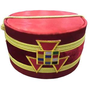 Royal Arch Past High Priest PHP Emblem Cap Red