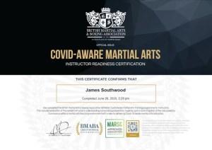 Covid Aware Certificate James Southwood