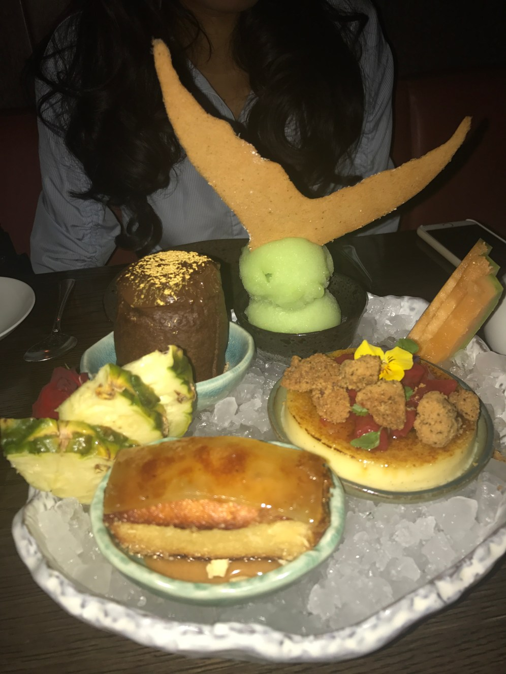 LondonsDiningCouple Sexy Fish Review dessert platter