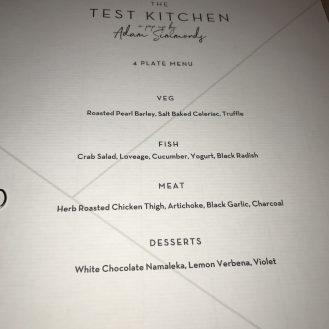 The Test Kitchen - A pop-up by Adam Simmonds