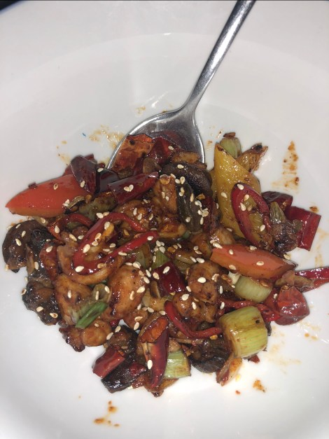 '1000 Chili Chicken' with snails and Sichaun pepper