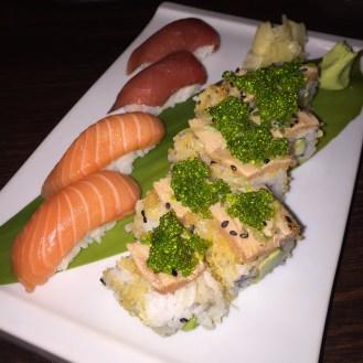 Salmon Nigiri; Tuna Nigiri; Crunchy Tuna Roll