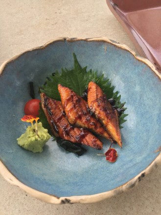 Eel sashimi