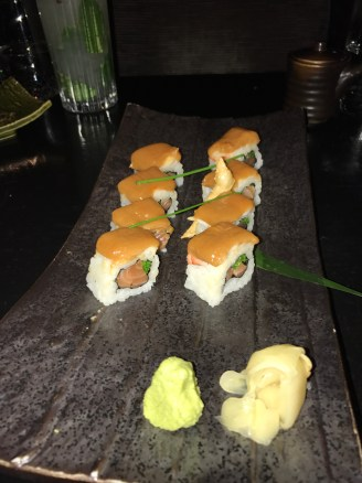 Salmon roll with Lobster & Miso bisque