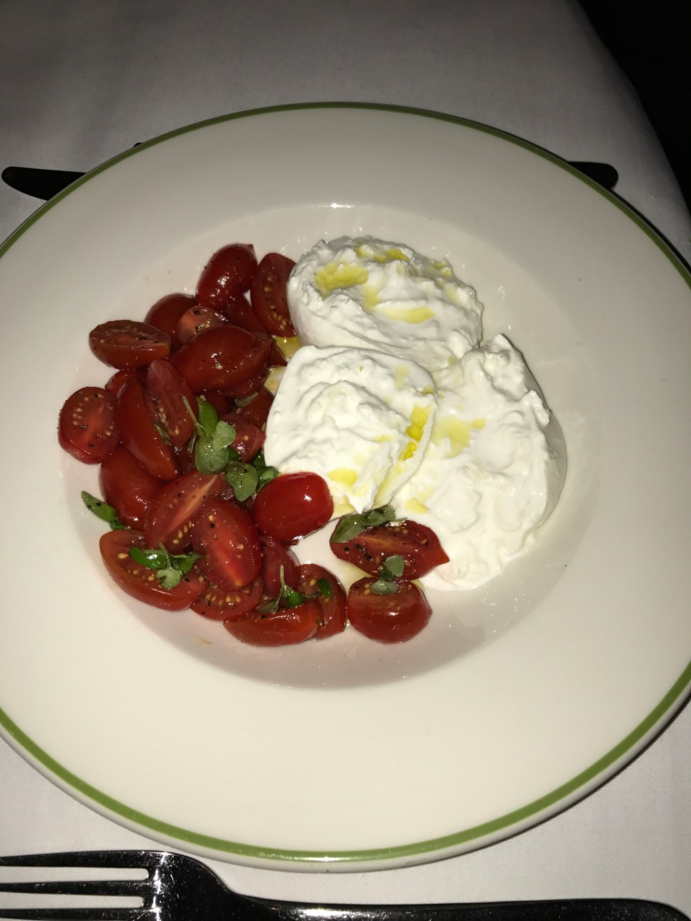 D.O.P Buffalo Mozzarella with tomatoes & basil