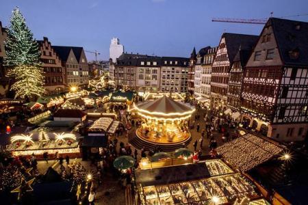 Mercado de Natal de Frankfurt, Alemanha. Foto: Getty Images