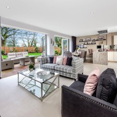 Living Room Show Homes Paint Ideas With Dark Hardwood Floors Trio Of Unveiled At London Square Chigwell Village Home Spanning 2 713 Sq Ft Striking New England Style Timber Cladding And A Spacious Lounge Area Plus Open Plan Family Dining Kitchen Leading