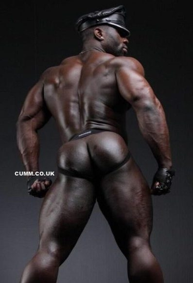 big black leather daddy arse lubed