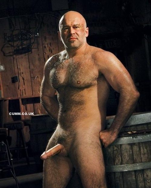 bald man with big cock