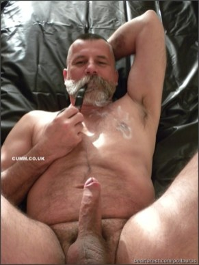 god in bed smoking-and-stroking
