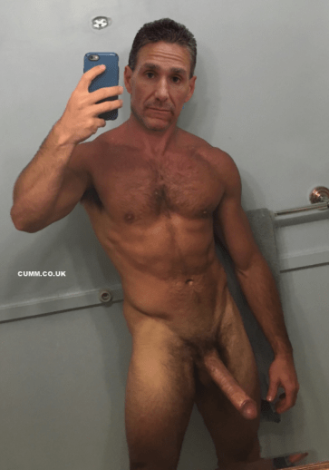 Mature-Youth-dad-cock-selfie-semi