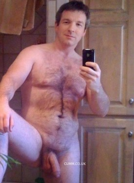 bare dad foreskin cock