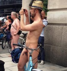 london naked bike ride hung