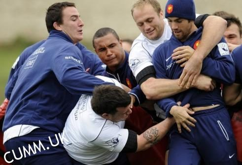 rugby cock touching