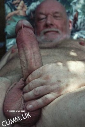 mature hung silver daddy bear
