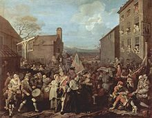 March of the Guards to Finchley by William Hogarth