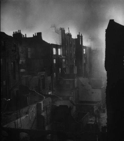London Burns After a German Bombing Raid