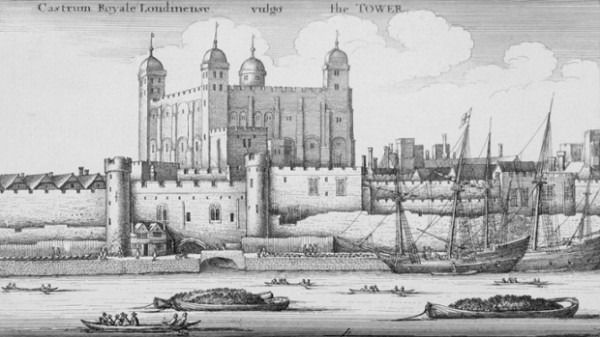 1647 --- An engraving of the Tower of London in the 17th century, by the Czech draughtsman and engraver Wenceslaus Hollar (1607-1677). --- Image by © Historical Picture Archive/CORBIS
