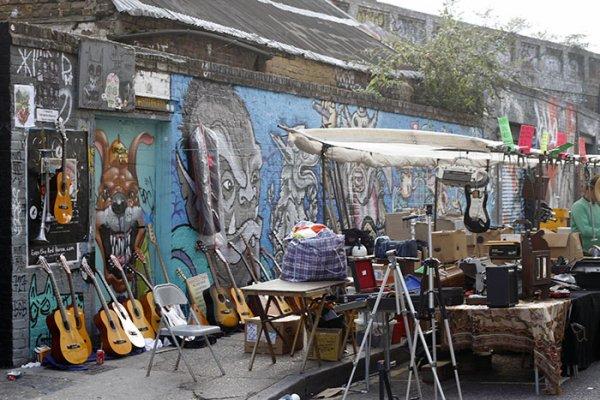 Guitars for sale at Brick Lane Market