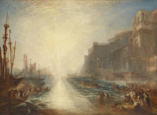 JMW Turner  Regulus 1828, reworked 1837  Oil paint on canvas support: 895 x 1238 mm frame: 1135 x 1460 x 93 mm painting Tate. Accepted by the nation as part of the Turner Bequest 1856