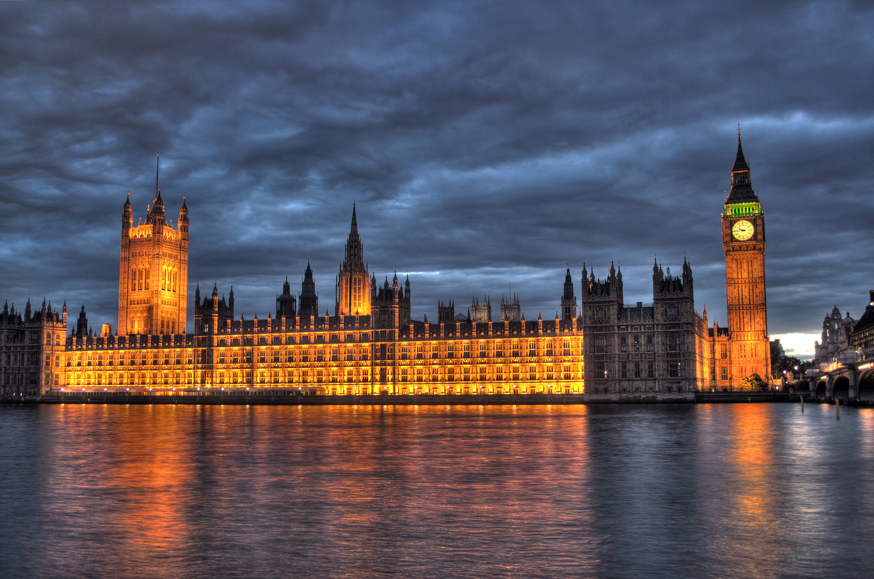 Image result for houses of parliament in the night