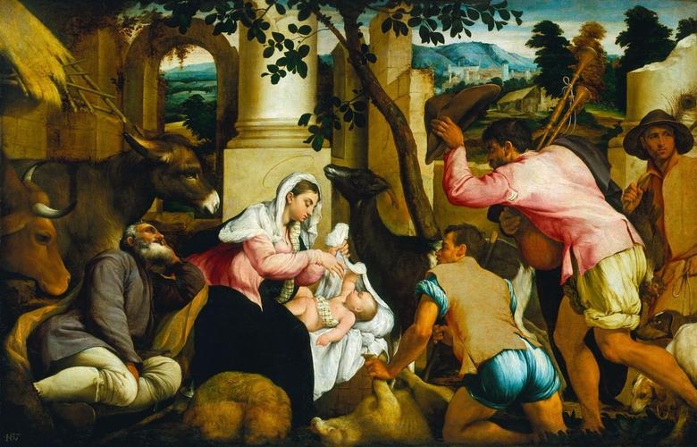 The Adoration of the Shepherds, 1546, Jacopo Bassano