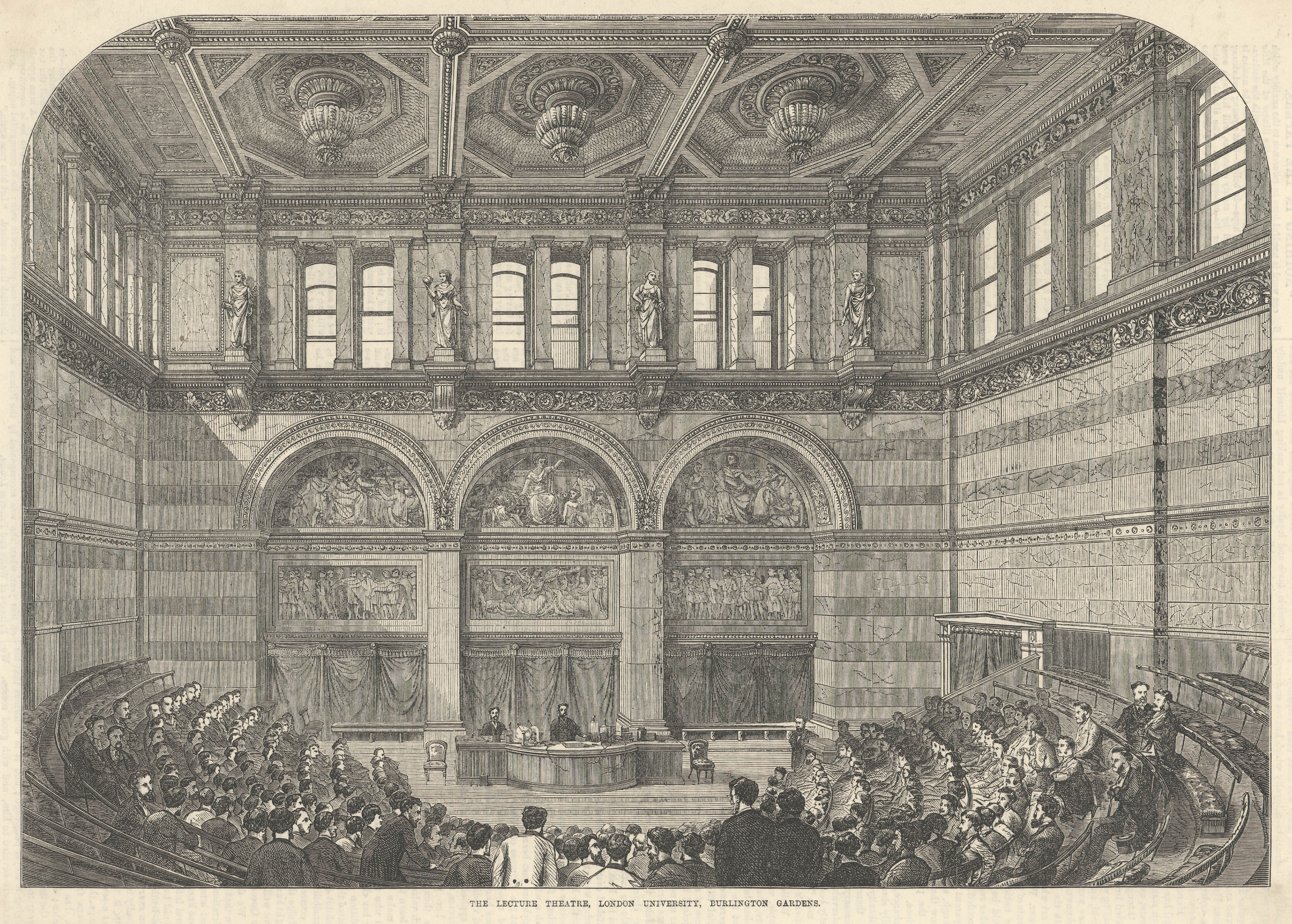 New Royal Academy - The Lecture Theatre, 1870