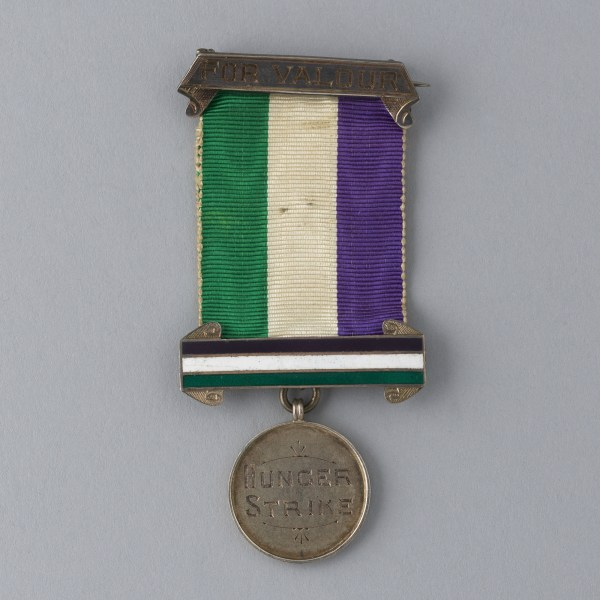 WSPU Hunger Strike medal awarded to Caroline Lowder Downing, 1912.