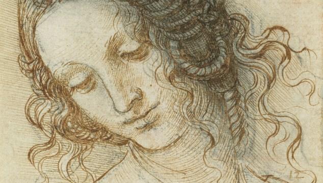 Leonardo da Vinci, The head of Leda, c.1505-8.