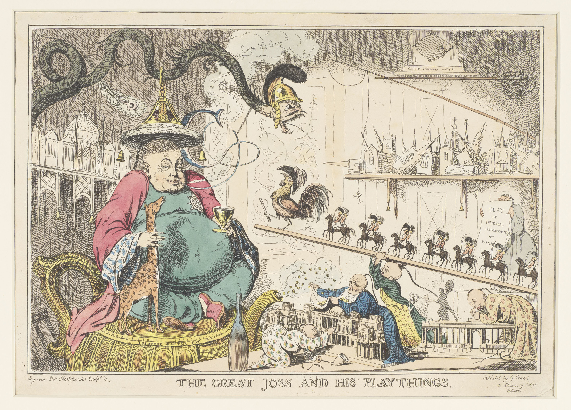 Robert Seymour, The Great Joss and his Playthings, c.1829