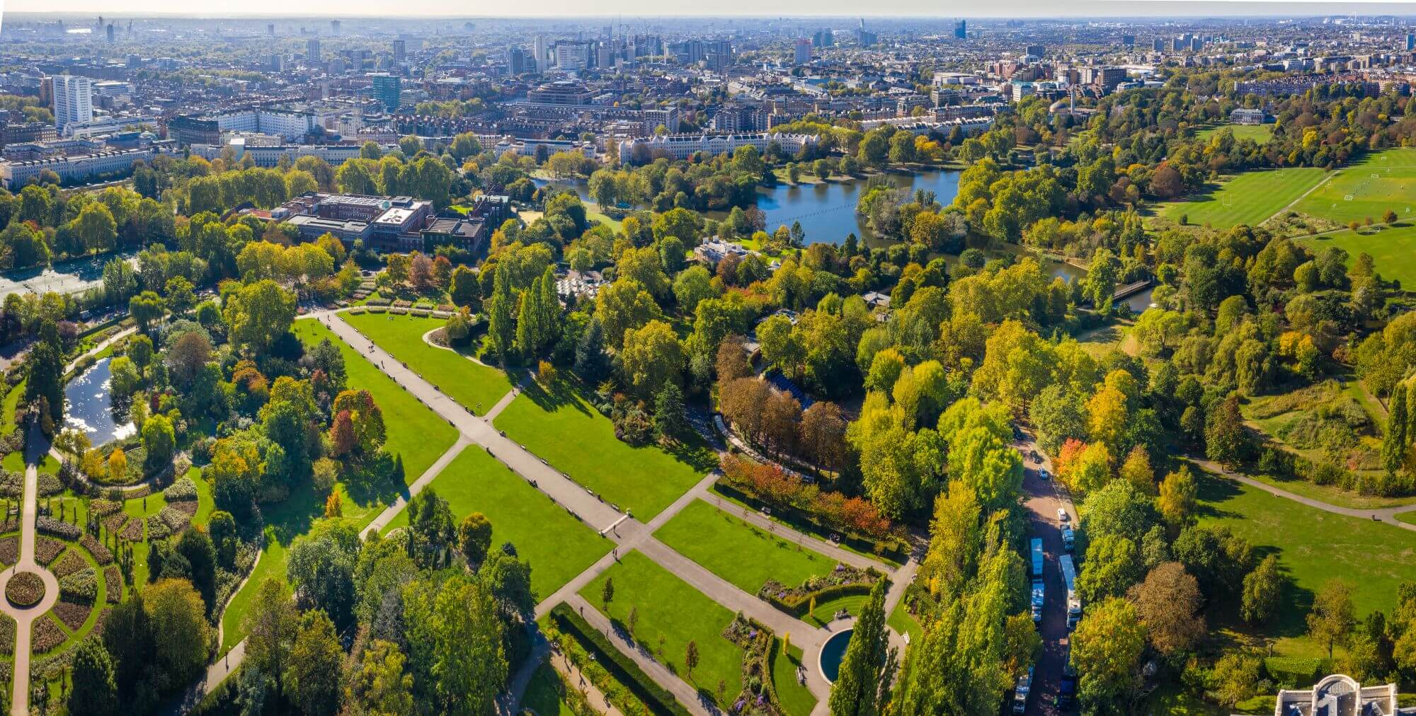 Aerial View of The Regent's Park.