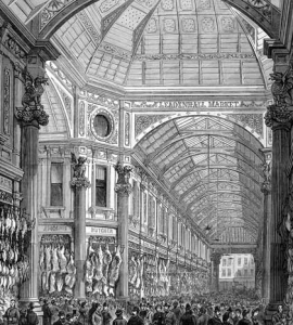 Leadenhall Market in Victorian times