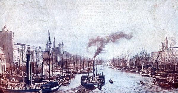 Pool of London, 1841