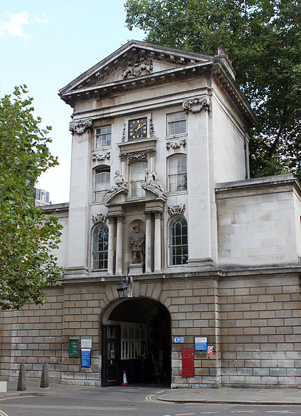 St Bartholomew's Hospital, main entrance, Henry VIII Gate 1702