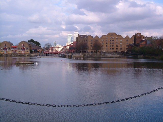 Shadwell basin, with two entries