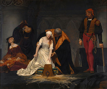The execution of Lady Jane Grey, by Paul Delaroche