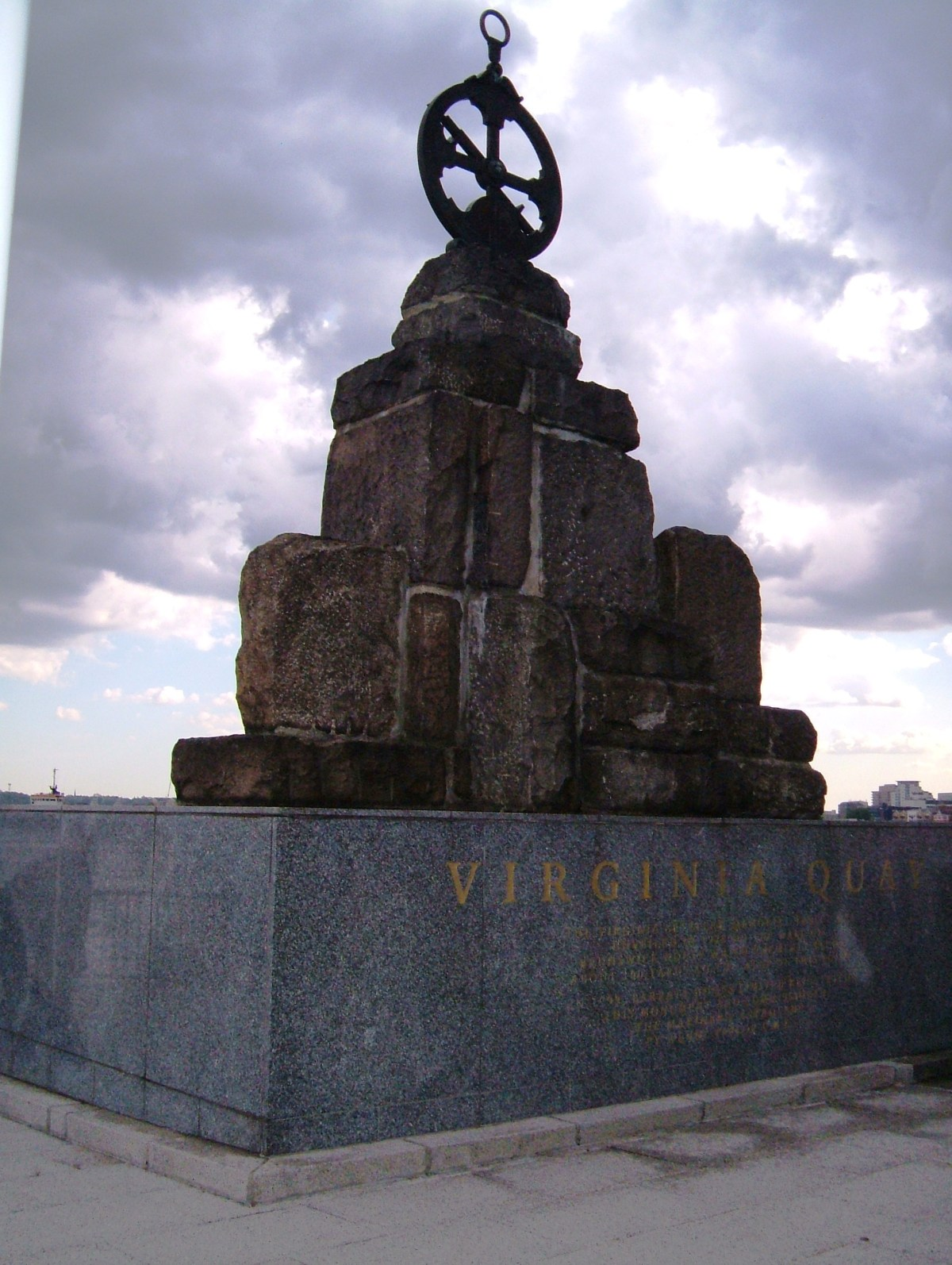 The Virginia Memorial on Brunswick Wharf