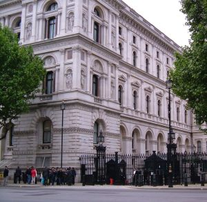 The entrance to Downing Street