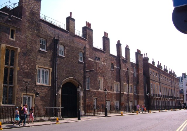 St James's Palace, looking down Cleveland Row
